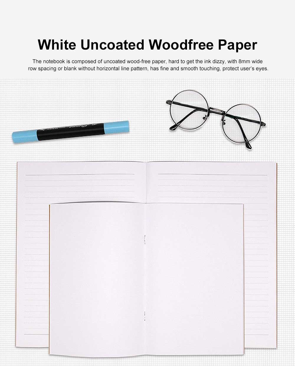 Simple Kraft Cover Exercise Book Students Scribbling Pad Uncoated Woodfree Paper 40&60 Pages A5&B5 Notebook 2