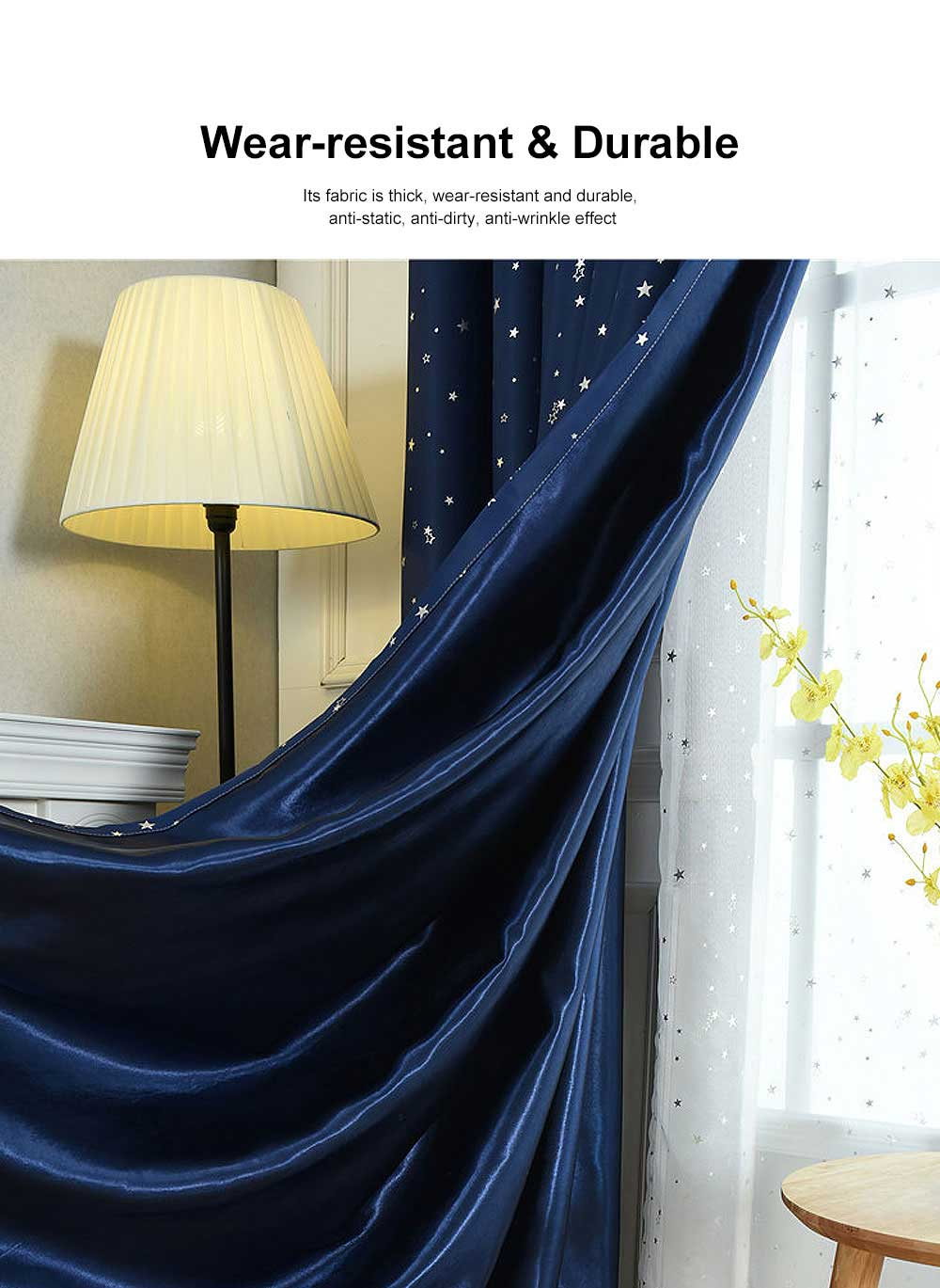 Star Hot Silver Curtain, Multicolor Curtains for Hotel Engineering, Living Room, Bedroom, High-quality Flannel Curtain 1