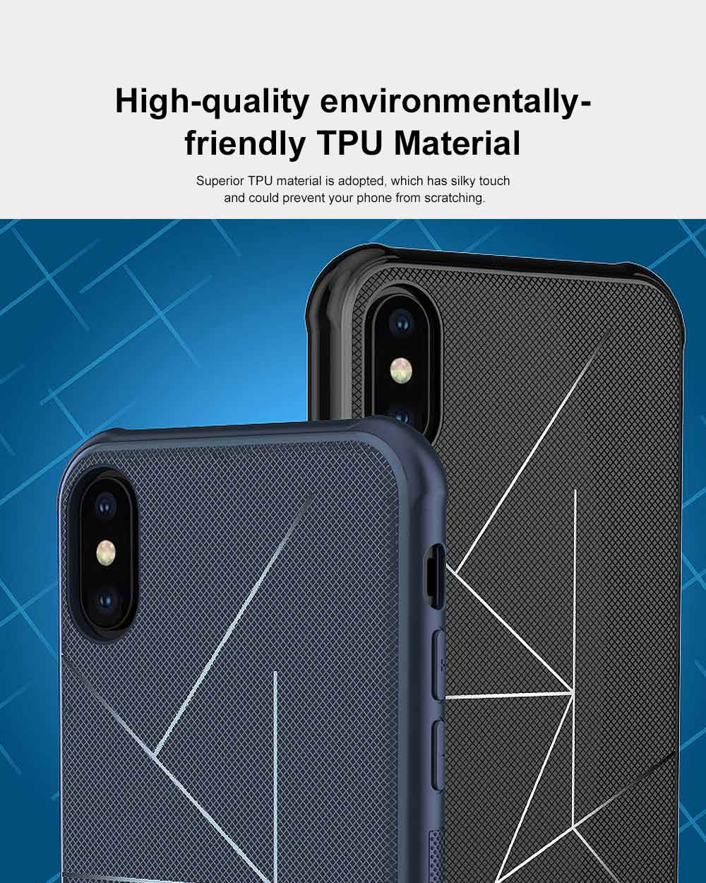 Geometric Scheme Phone Case, Magnetic Car Holder TPU Phone Case, Four-angle Thicken Protection, Minimalist Phone Case for iPhone and Samsung 4
