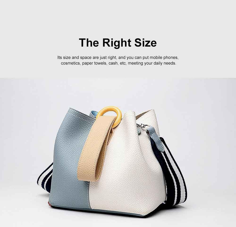 Fresh Ladies Crossbody Bag, Female Bucket Bag, with Detachable Bladder Bag 3