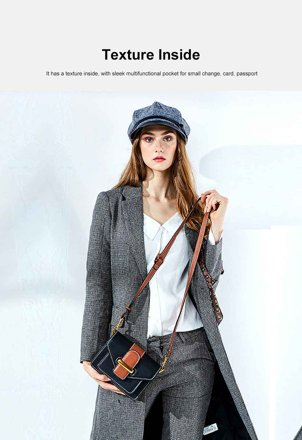 New Women's Bag Fashion Bag, Fashion Ladies Shoulder Bag, with Widen to Wear Buckle Design 5
