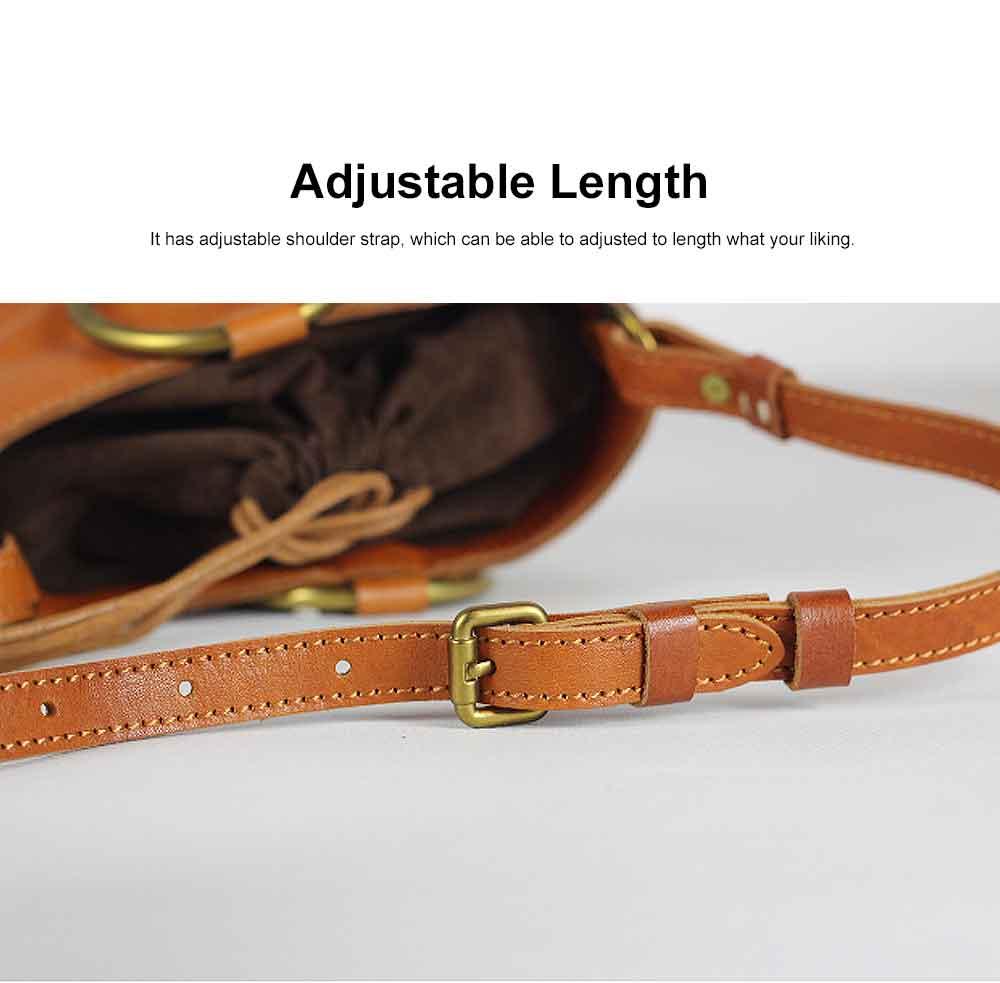 Cowhide Leather Ladies Shoulder Bag, Single-shoulder Slant Straddle Bag for Shopping, Dating 3