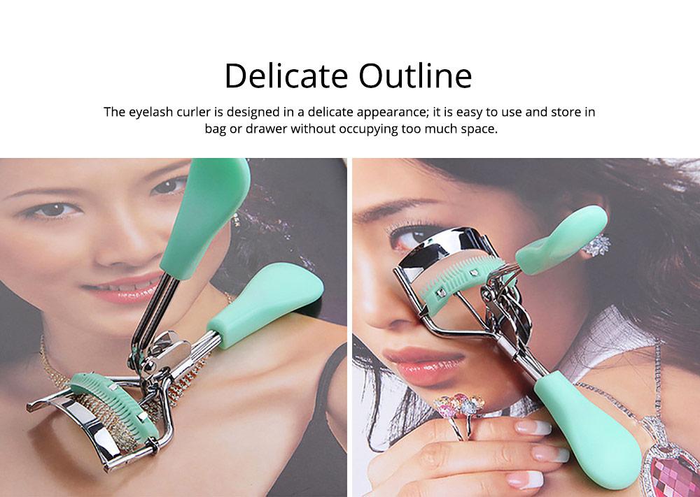 Eyelash Curler with Comb for Beauty Makeup Stainless Steel Eyelash Curler Eyebrow Trimmer Eyebrow Tweezer Beauty Makeup Tools 7