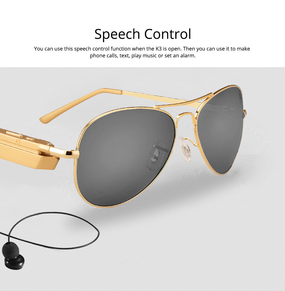 Smart Earphones Bluetooth 4.1 Version Polarized Sunglasses for Music, Broadcast and Phone Calls Long Distance Wireless Connected Smart Earphone 5