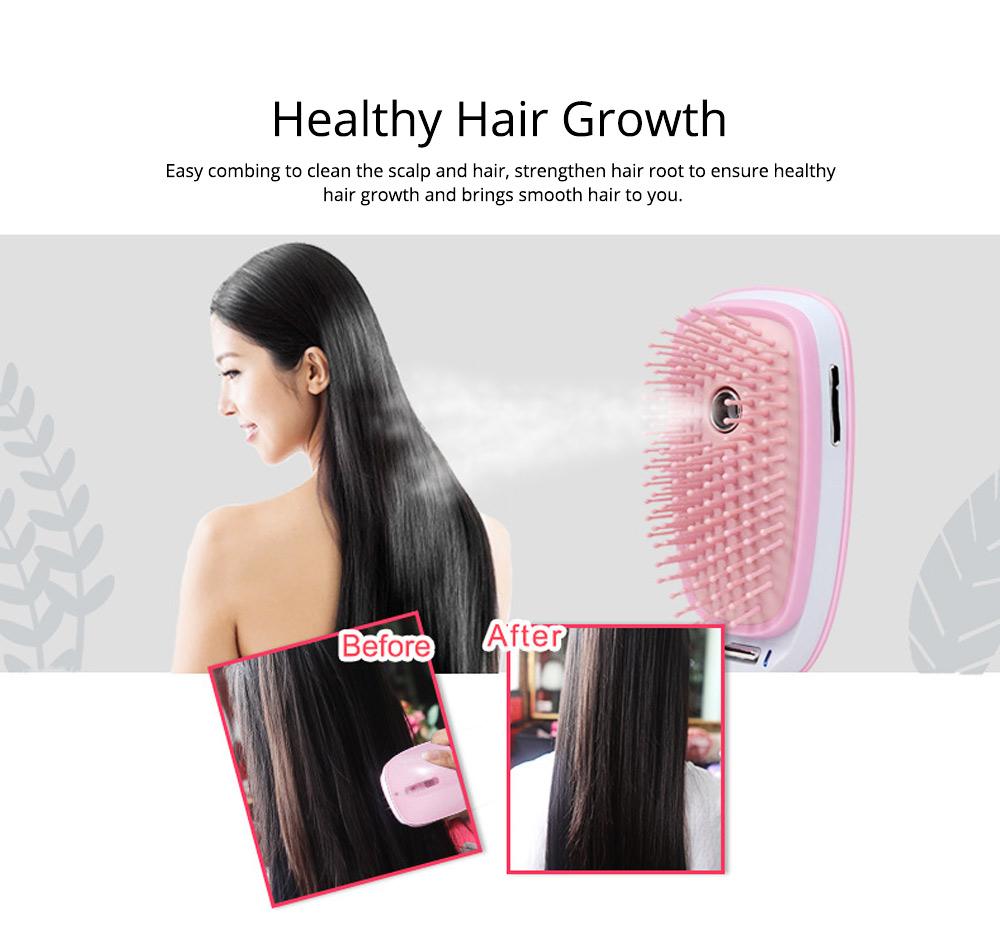 Mini Spraying Massage Comb for Hairdressing Nanometer Spraying Hairdressing Comb Multipurpose Moisture Vibration Massage Comb 2