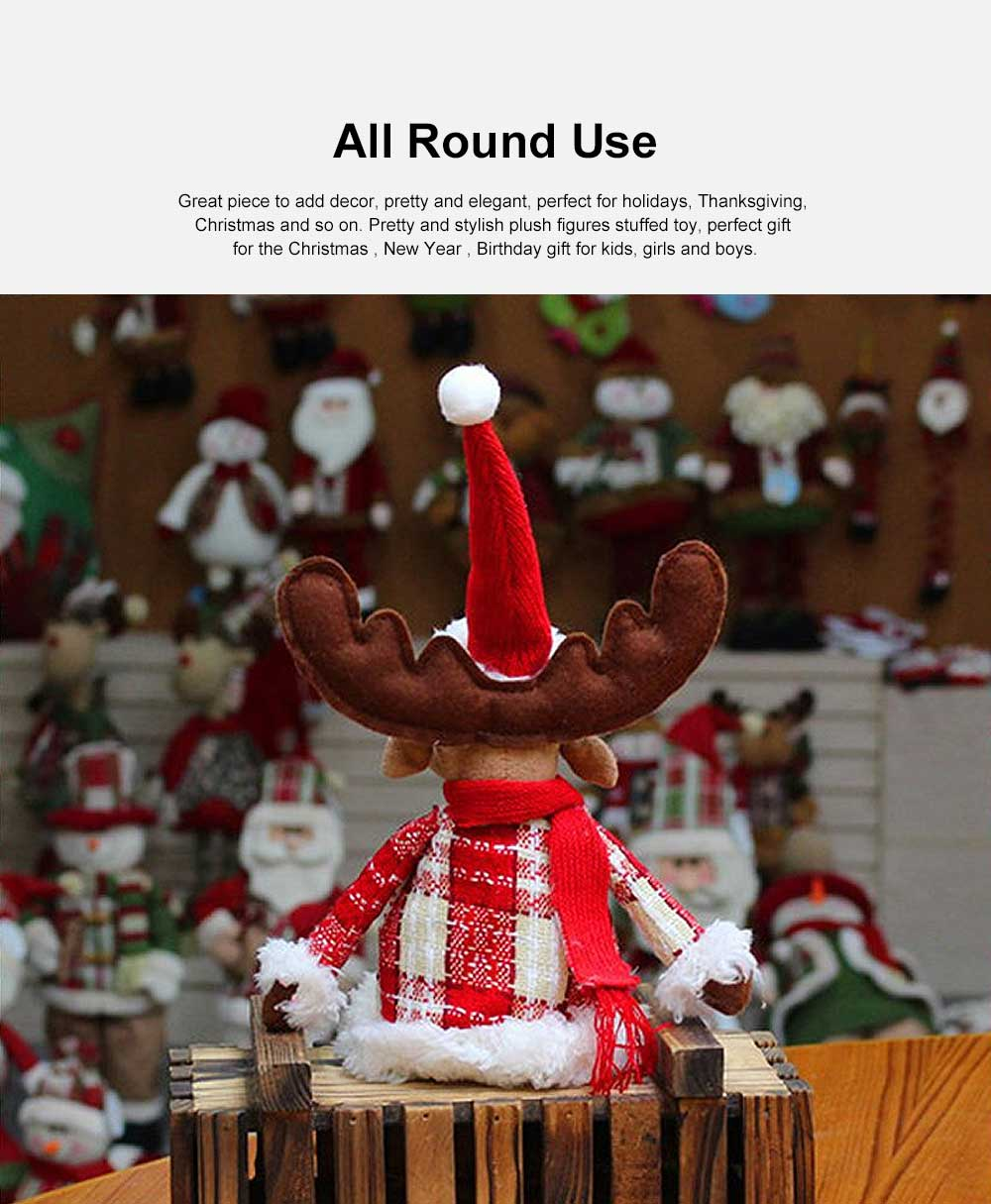 Christmas Decorations Elk Ornaments Christmas Fabric Sitting Posture Dolls Christmas Creative Toys 3
