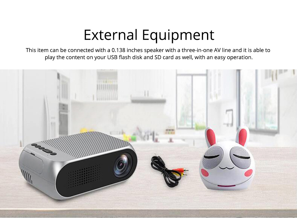 New Style High Quality Projectors YG320 Mini-sized Portable Projection Machine for Home Using 1080P Supporting for OEM Custom Home Theater 8