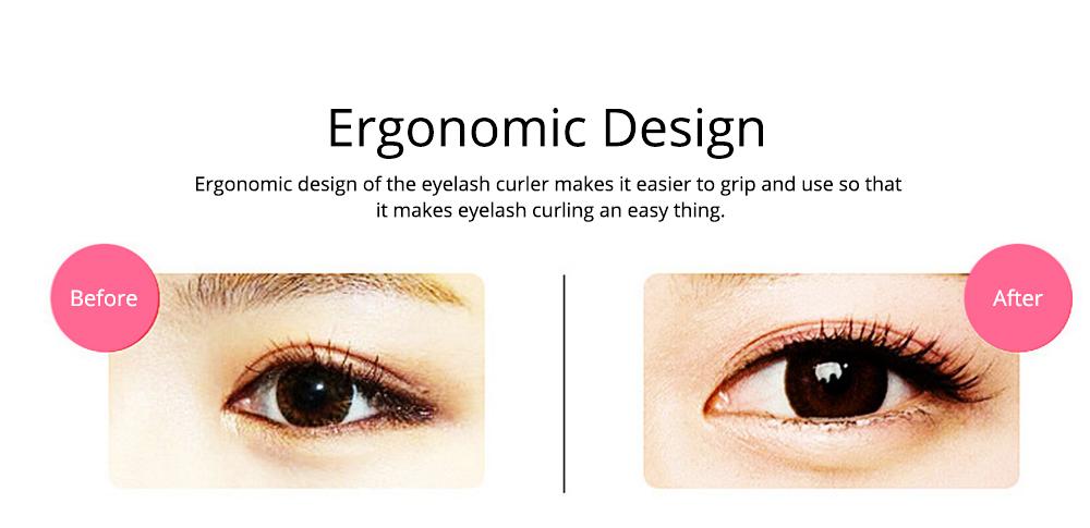 Eyelash Curler with Comb for Beauty Makeup Stainless Steel Eyelash Curler Eyebrow Trimmer Eyebrow Tweezer Beauty Makeup Tools 4