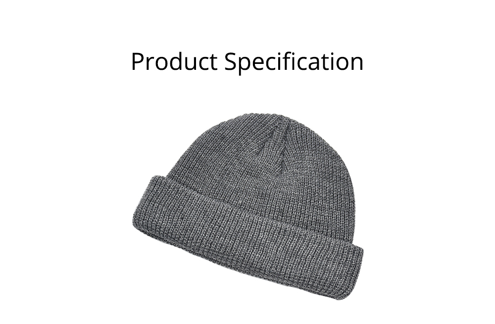 Stylish Winter Skullcap for Male Use of Korean Style Design Knitted Woolen Yarn Hat Fashionable Hip-hop Hat 7