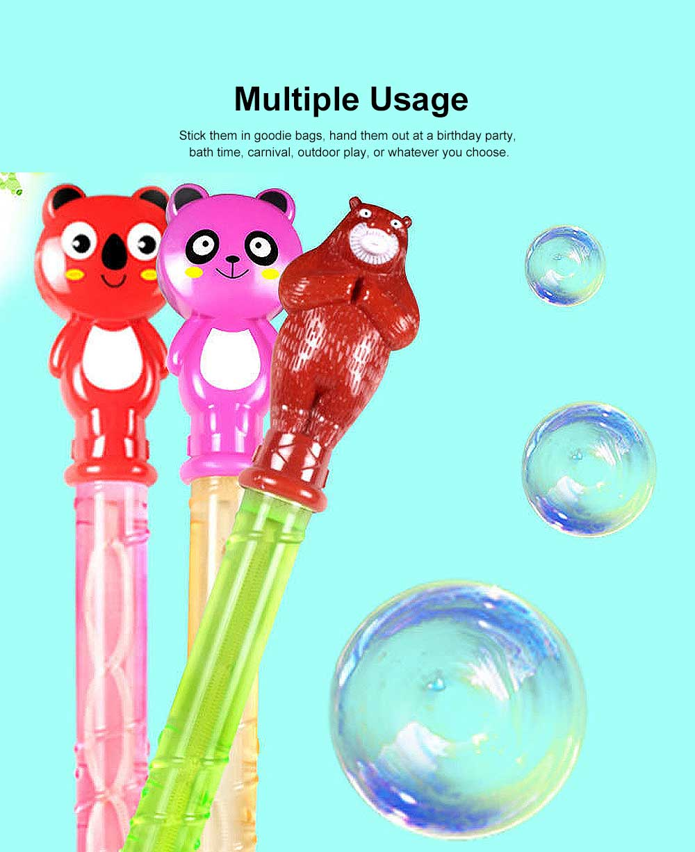 Cartoon Large Bubble Stick Concentrated Version of A Variety of Optional Blowing Bubble Toys 6
