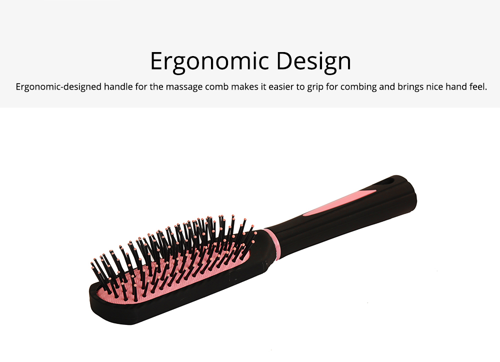 Air Pad Massage Comb Dull Polished Black Massage Comb Plastic Comb Square Hairdressing Massage Comb Hairdressing Tools 4