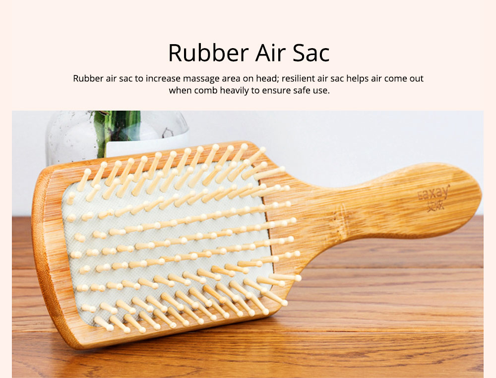 Bamboo Air Sac Massage Comb for Curled Hair Air Pad Comb Bamboo Comb Household Air Sac Massage Comb Hairdressing Tools 7