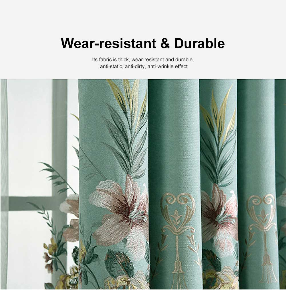 Modern Minimalist Curtains, Household Blackout Curtains for Living Room, Bedroom Chenille Floor Window Curtains 2