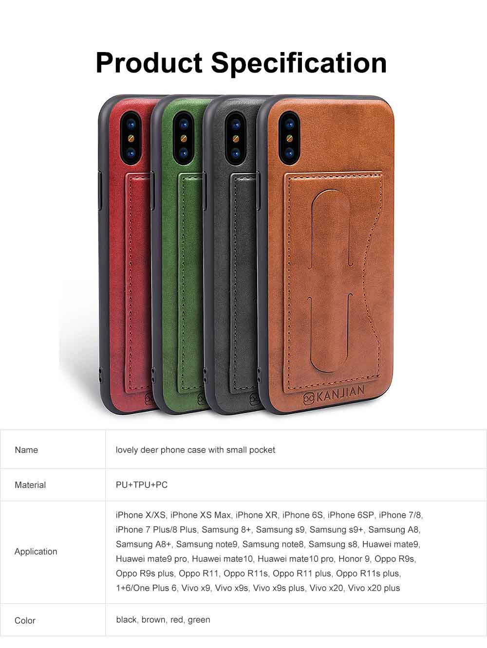 Luxury Soft Leather Phone Case, Minimalist High-end Business Phone Case for iPhone, Samsung, Huawei, Vivo, Oppo 7