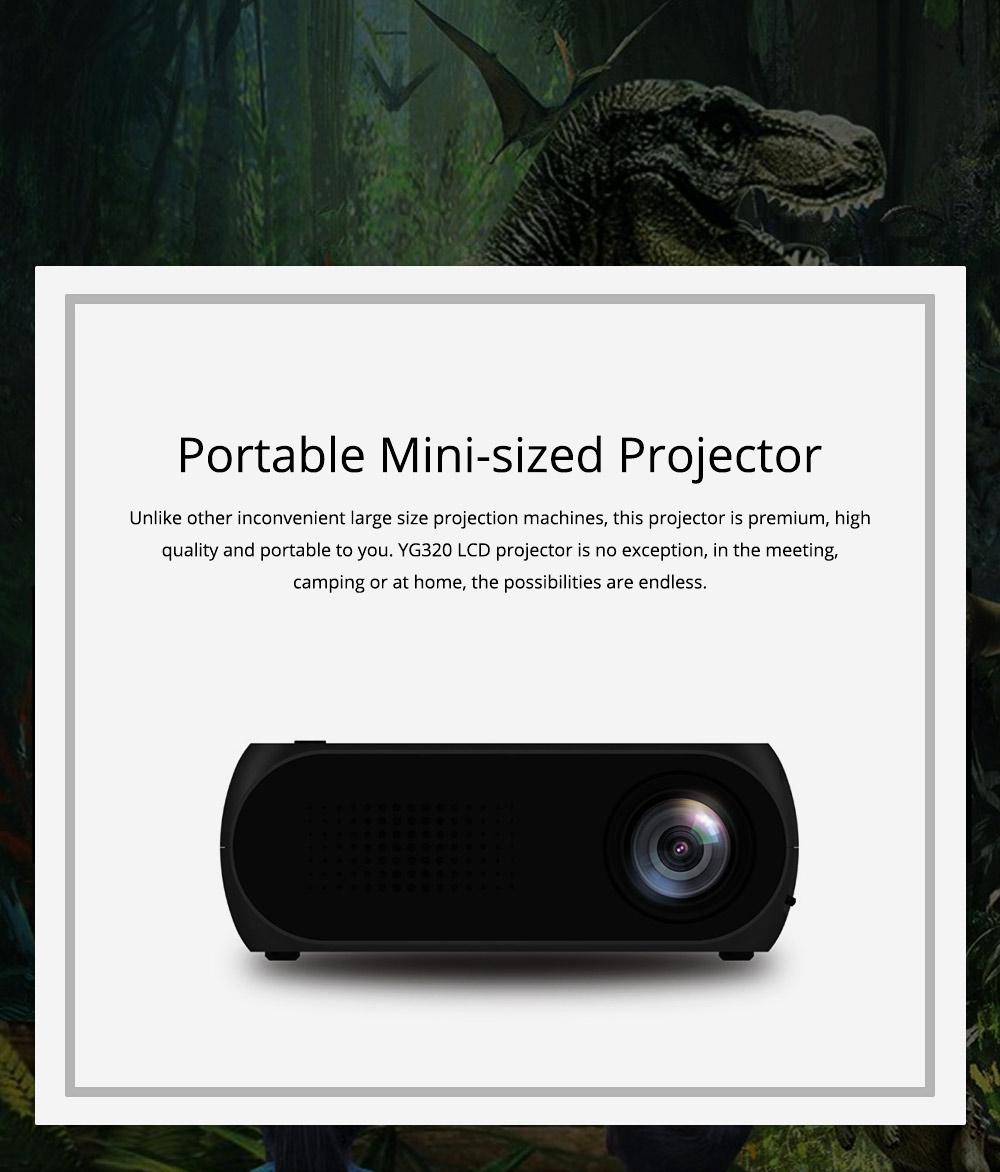 Domestic New Style Home Theater YG320 Mini-sized Portable Projection Machine for Home Using 1080P Supporting for OEM Custom 0
