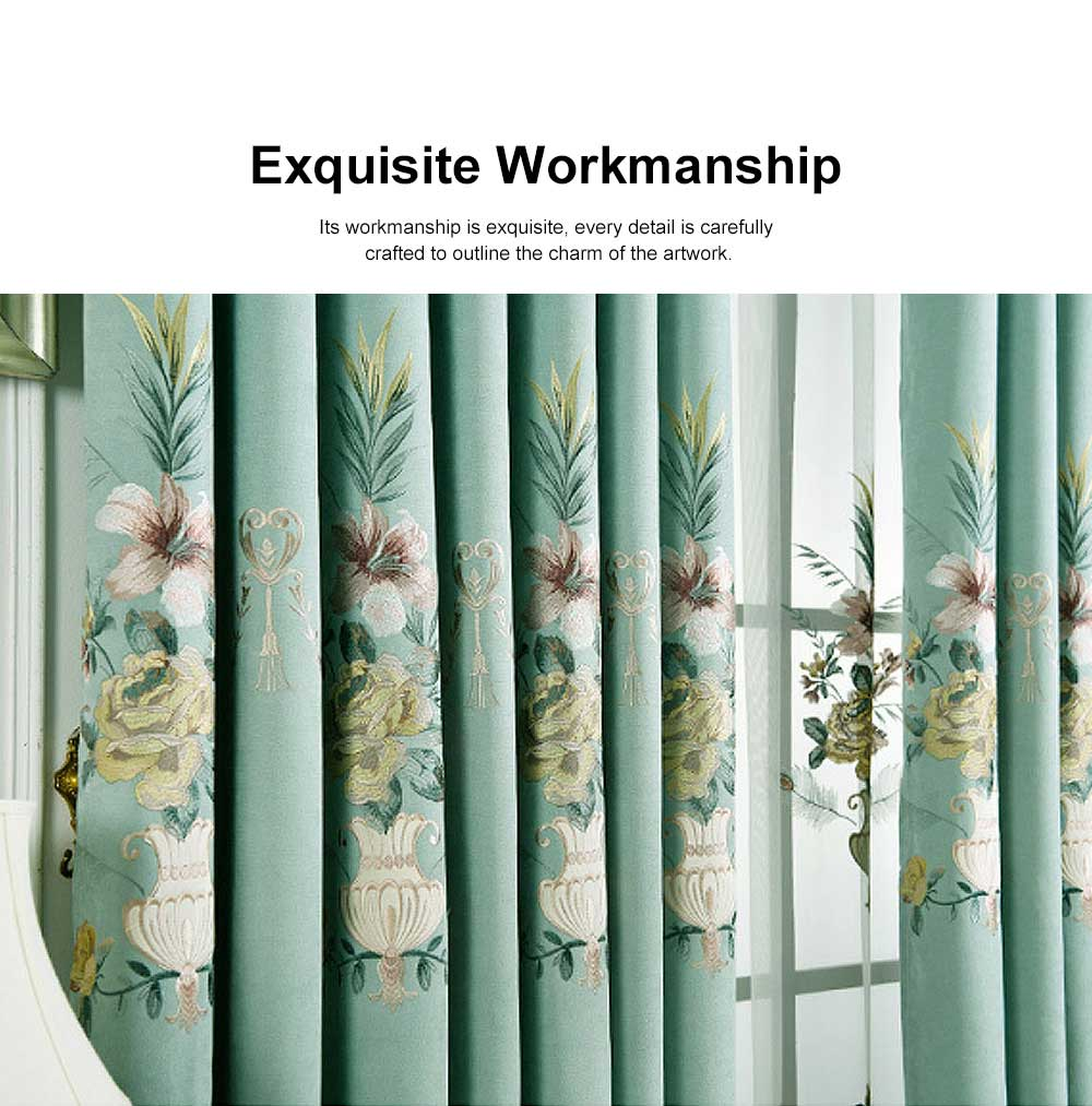 Modern Minimalist Curtains, Household Blackout Curtains for Living Room, Bedroom Chenille Floor Window Curtains 3