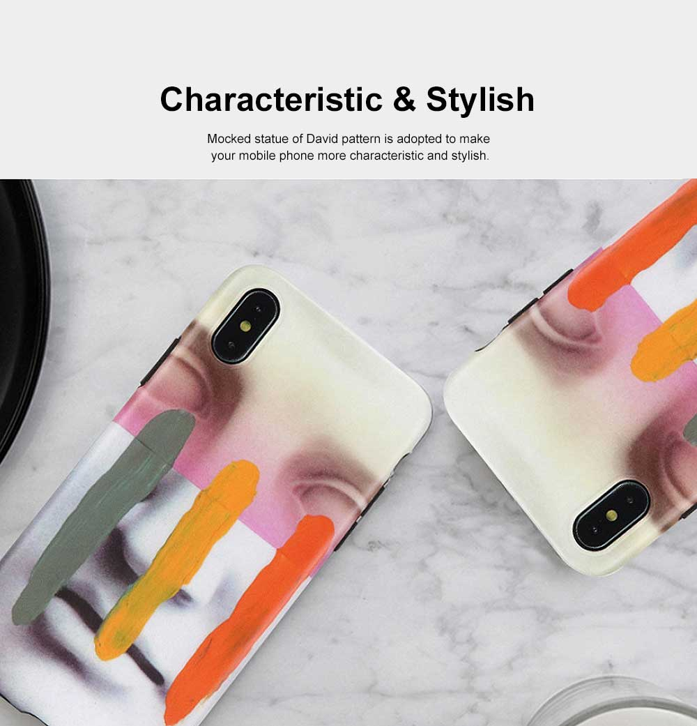 Mocked Statue of David Phone Case, Luxury Thin Soft TPU Case Cover, Stylish Breaking Proof Phone Case for iPhone 3
