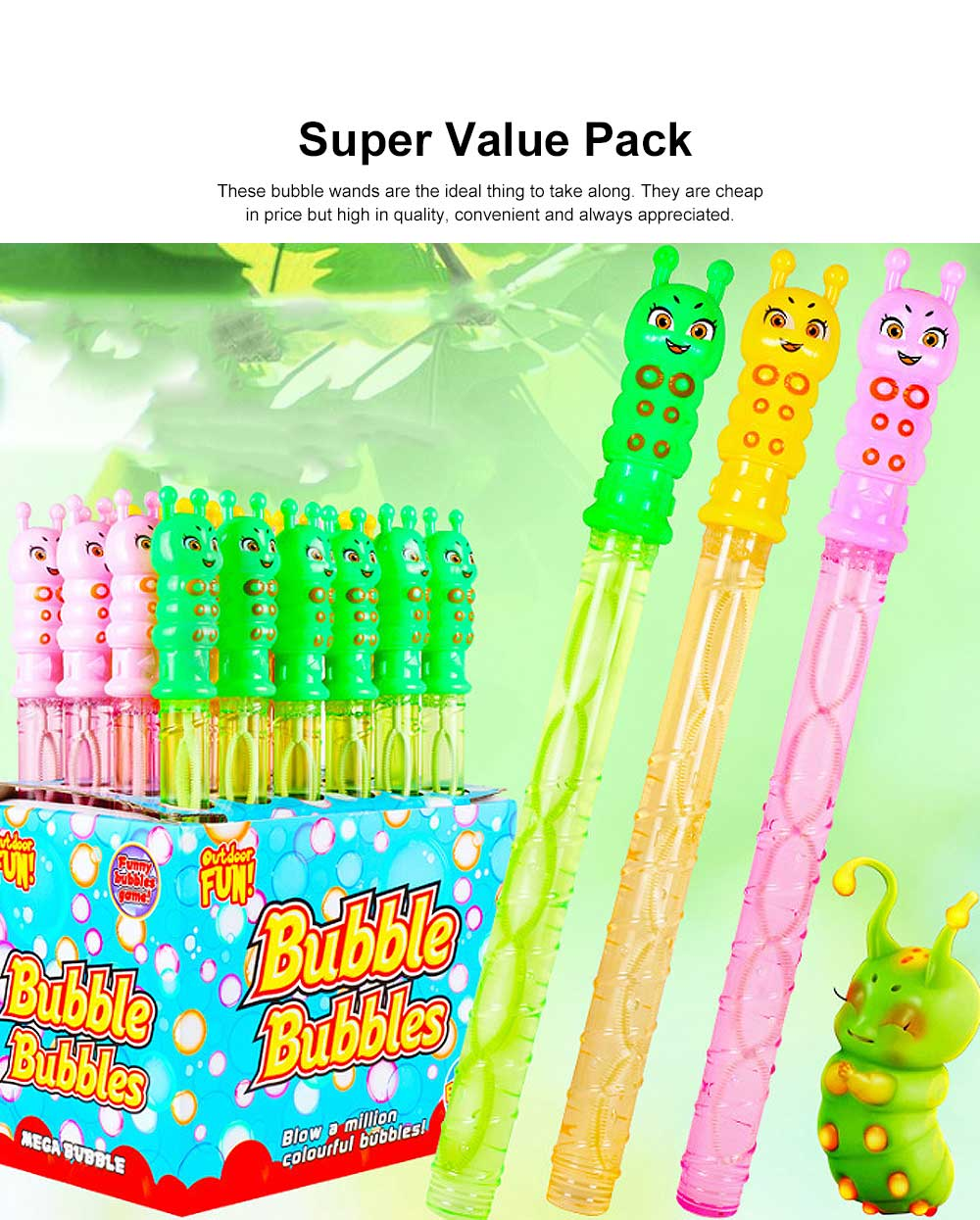 Cartoon Large Bubble Stick Concentrated Version of A Variety of Optional Blowing Bubble Toys 3