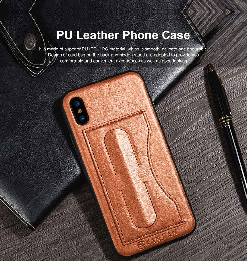 Luxury Soft Leather Phone Case, Minimalist High-end Business Phone Case for iPhone, Samsung, Huawei, Vivo, Oppo 0