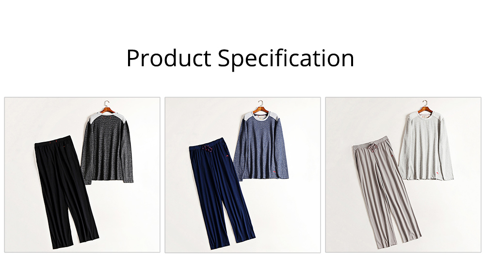 Foreign Trade Pajama for Men High Quality Soft Cotton Fabric Long Sleeves and Trousers Big and Tall Sleepwear 7
