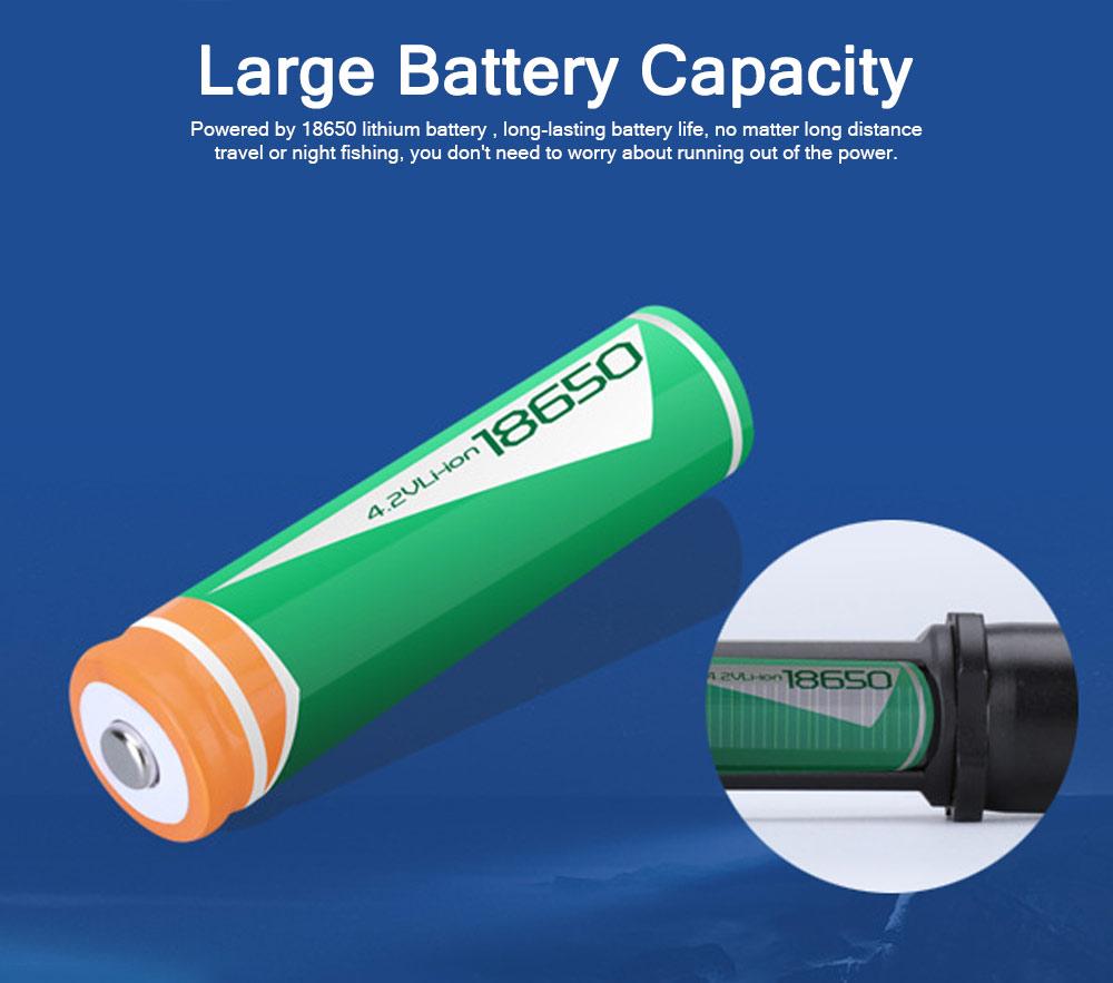 Emergency Charging USB Charging Lighting with LED Solar Panel, Self-defense Waterproof Aluminum Alloy Energy Saving Q5 Flashlight 2