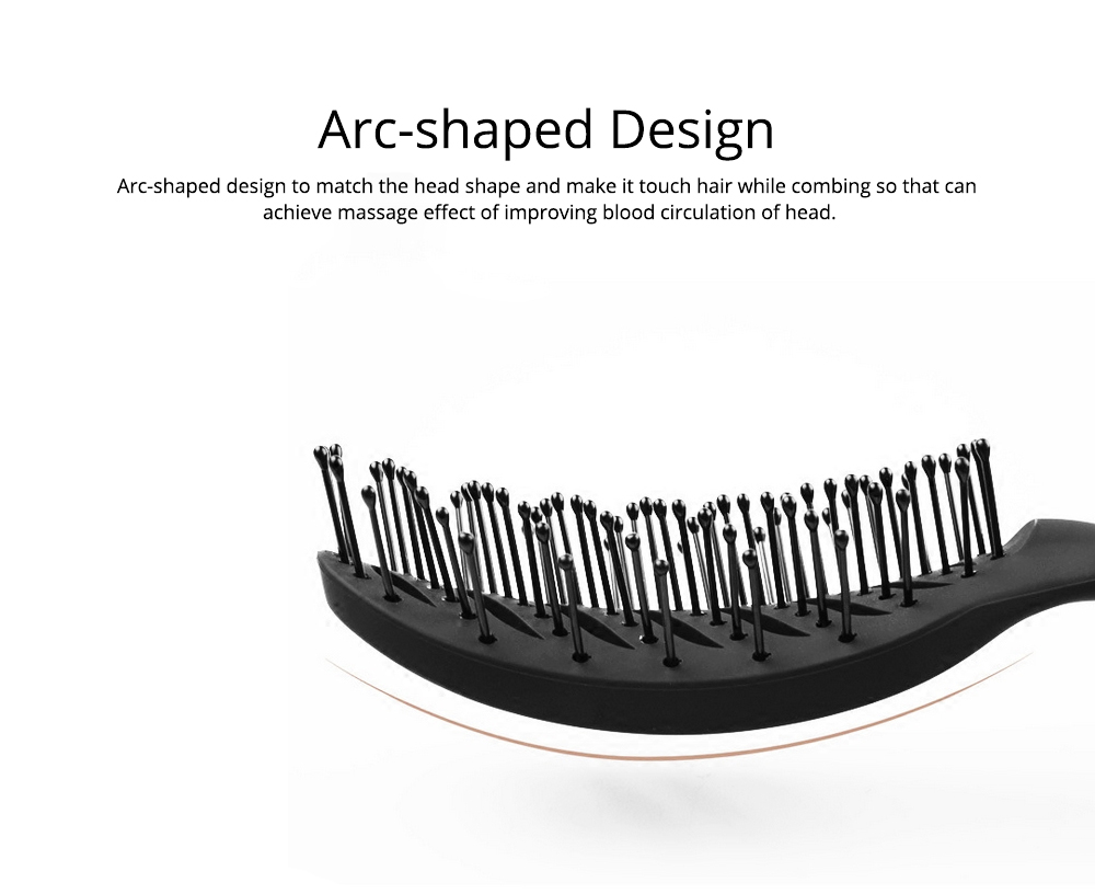 Arc-Shaped Massage Comb for Quick Hairdressing Comb Comfortably Hairdressing Brush Bevel Brush Plastic Massage Comb Hairdressing Comb Brush 1