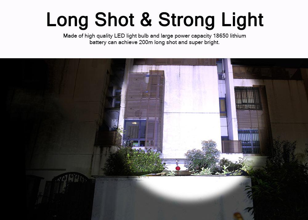 Outdoor LED Glare Lighting Mini Flashlight Night Riding Bicycle Light USB Charging T6 Waterproof Flashlight For Gift 1