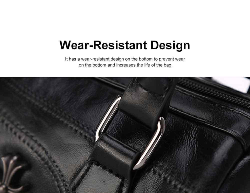 Sheepskin Small Square Bag, Fashion Round Hardware Rivets Shoulder Messenger Bag 3