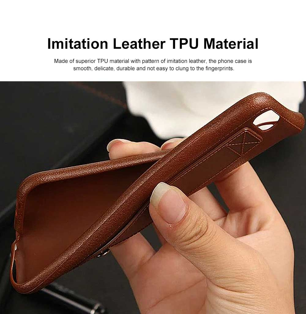 Imitation Leather TPU Phone Case, Soft Case Cover with Multifunctional Stand, Total Binding Business Phone Case for iPhone 1