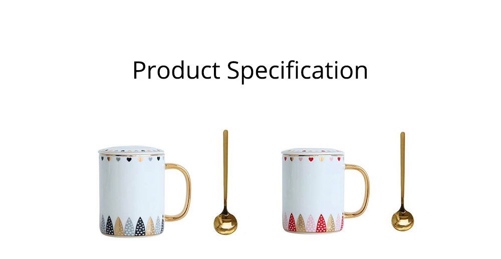 INS Creative Mug Cute and Simple Nordic Ceramic Couple Coffee Cup With Lid and Spoon High Quality Glazed Water Cup for Office and Home Using 7