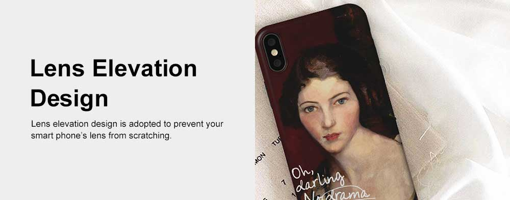Creative Oil Painting Phone Case, Fine and Smooth TPU Phone Case, Elegant Ultrathin Soft Case for iPhone 5