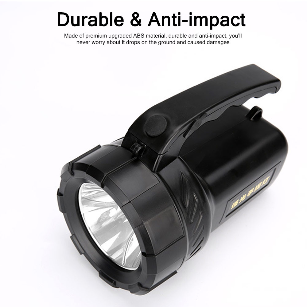 Plastic LED Large Portable Light Glare Long-range Lithium Battery Charging Outdoor Search Mining Lamp Emergency Flashlight 5