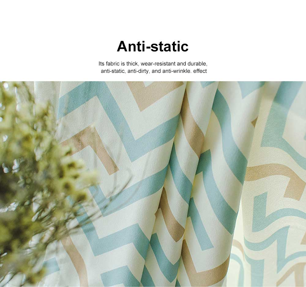 Nordic Modern Minimalist Curtains, Blackout Curtain for Living Room, Bedroom, High -quality Cotton Blackout Curtain 3