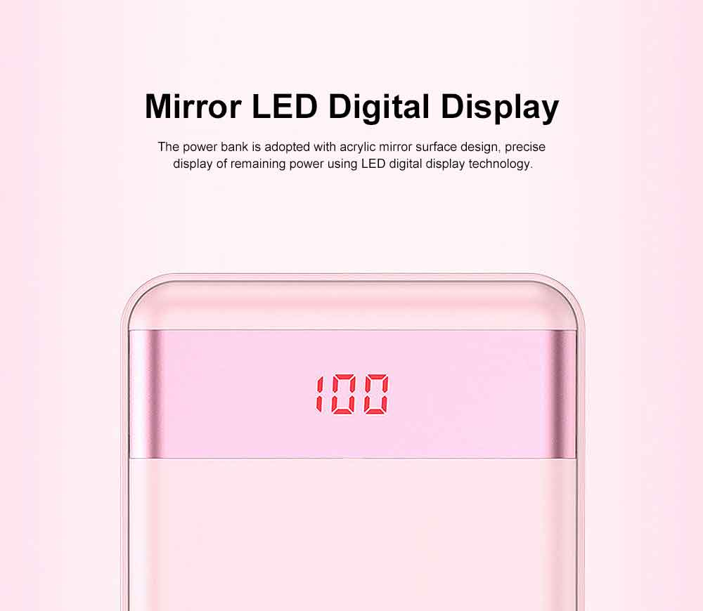 Cute Cartoon Slim Power Bank Digital Display Portable External Battery Colorful Charger Fast Charging for Cell Phone 10000mAh 2