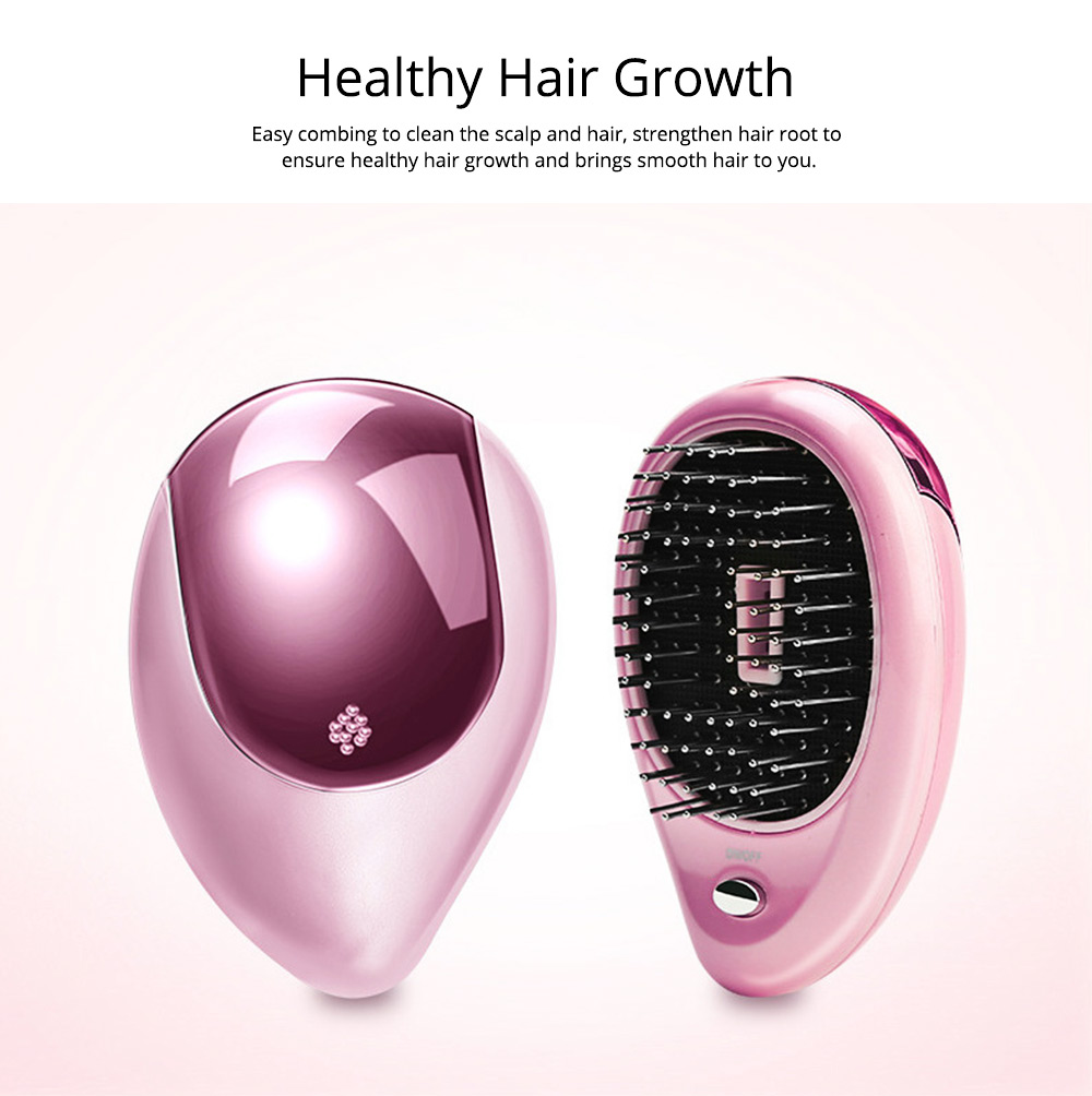 Anion Hairdressing Comb for Quick Hairdressing Same Style as Japan Power-Driven Vibration Massage Comb Portable Anion Antistatic Comb Hairdressing Tools 3