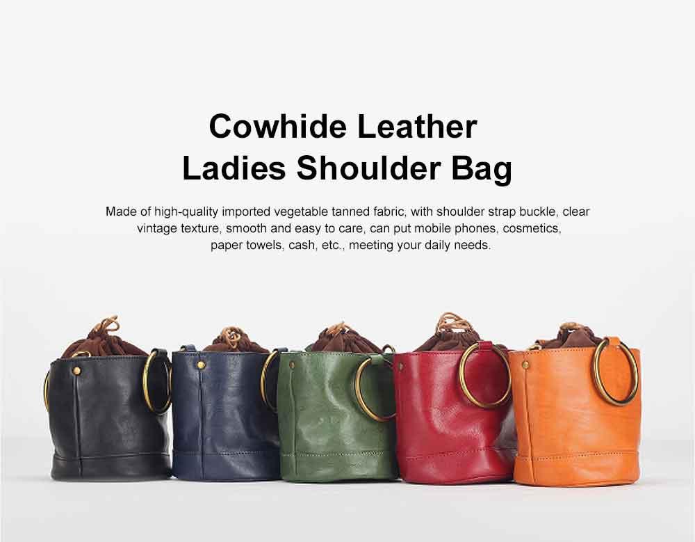 Cowhide Leather Ladies Shoulder Bag, Single-shoulder Slant Straddle Bag for Shopping, Dating 0