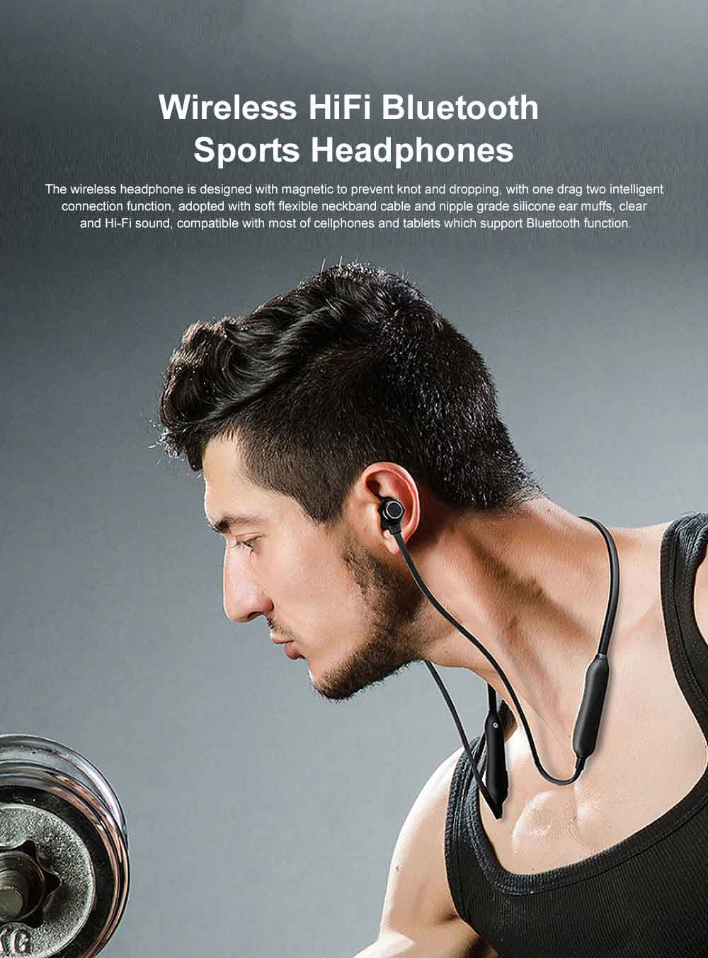 Wireless Bluetooth Earphone Headphones In-ear Neckband Headset Sports HiFi Stereo For iPhone Samsung 0