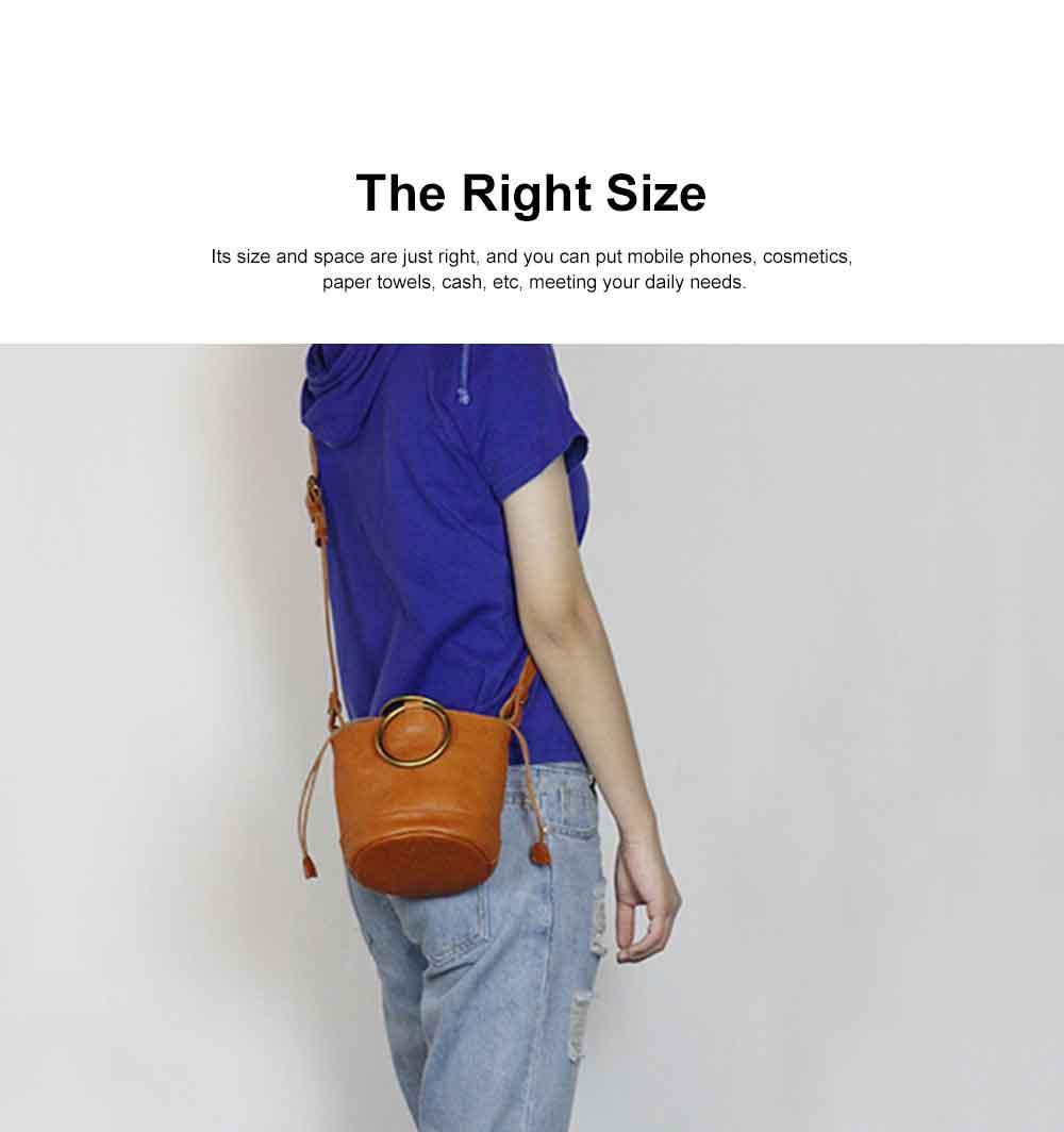 Cowhide Leather Ladies Shoulder Bag, Single-shoulder Slant Straddle Bag for Shopping, Dating 2