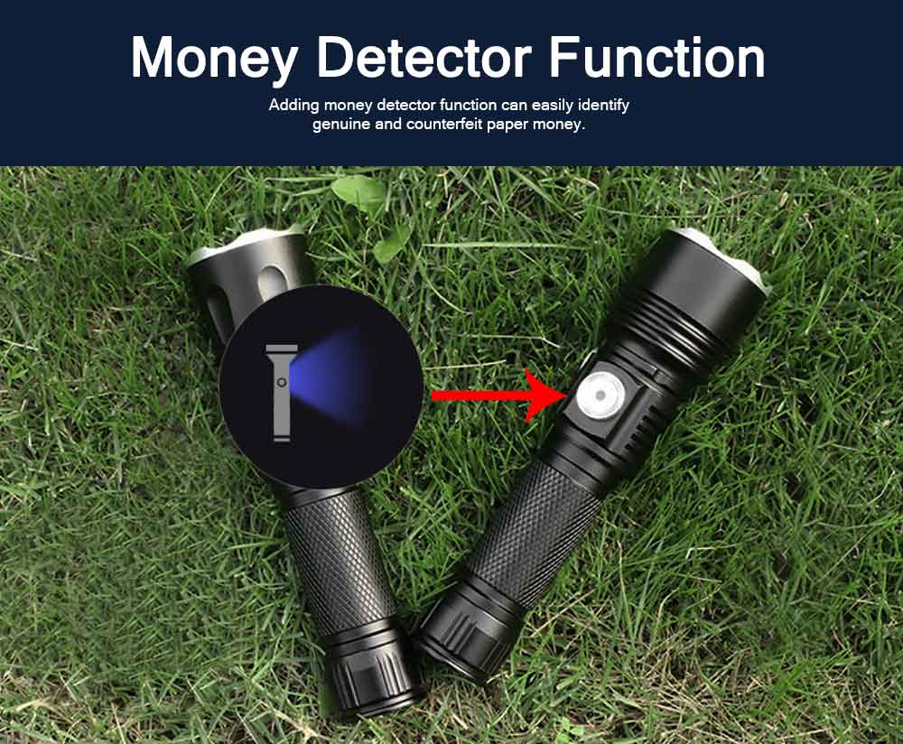 New LED Outdoor Lighting Glare Absorbable Flashlight 18650 Lithium Battery USB Charging COB Work Side Light Counterfeit Lamp 5