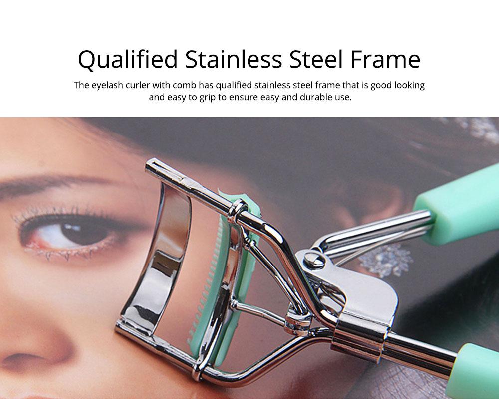 Eyelash Curler with Comb for Beauty Makeup Stainless Steel Eyelash Curler Eyebrow Trimmer Eyebrow Tweezer Beauty Makeup Tools 1