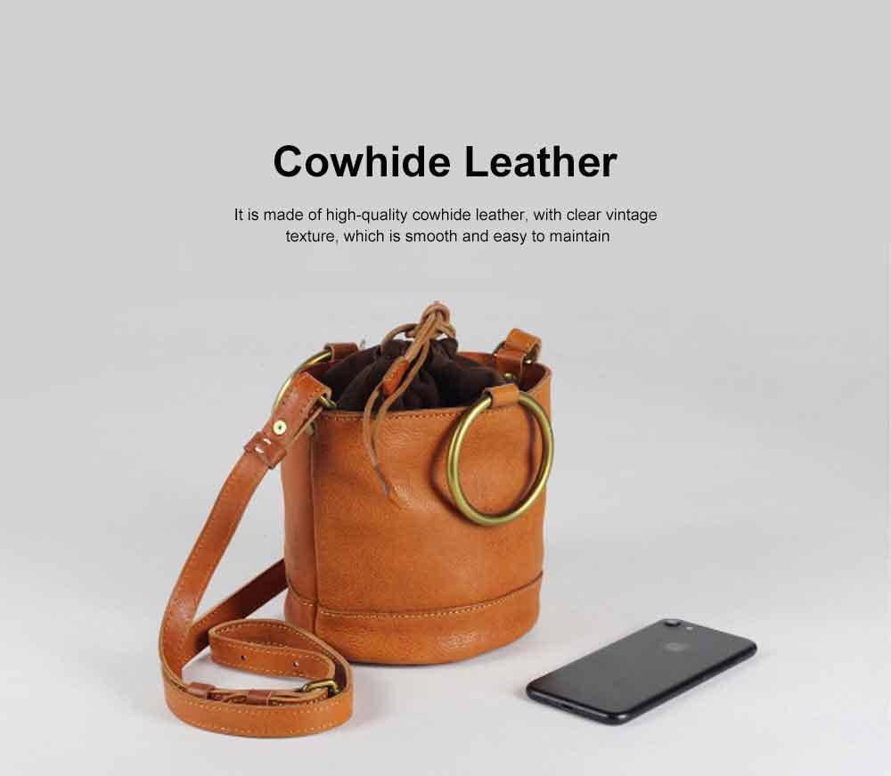 Cowhide Leather Ladies Shoulder Bag, Single-shoulder Slant Straddle Bag for Shopping, Dating 1