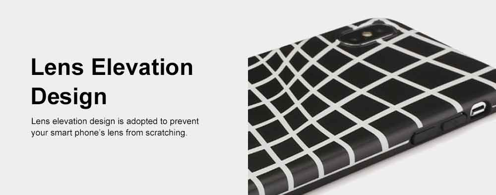 Creative Lines Mobile Phone Case, Grid Sanded Case Cover for iPhone, Luxury Soft Thin TPU Case, Minimalist Style 5