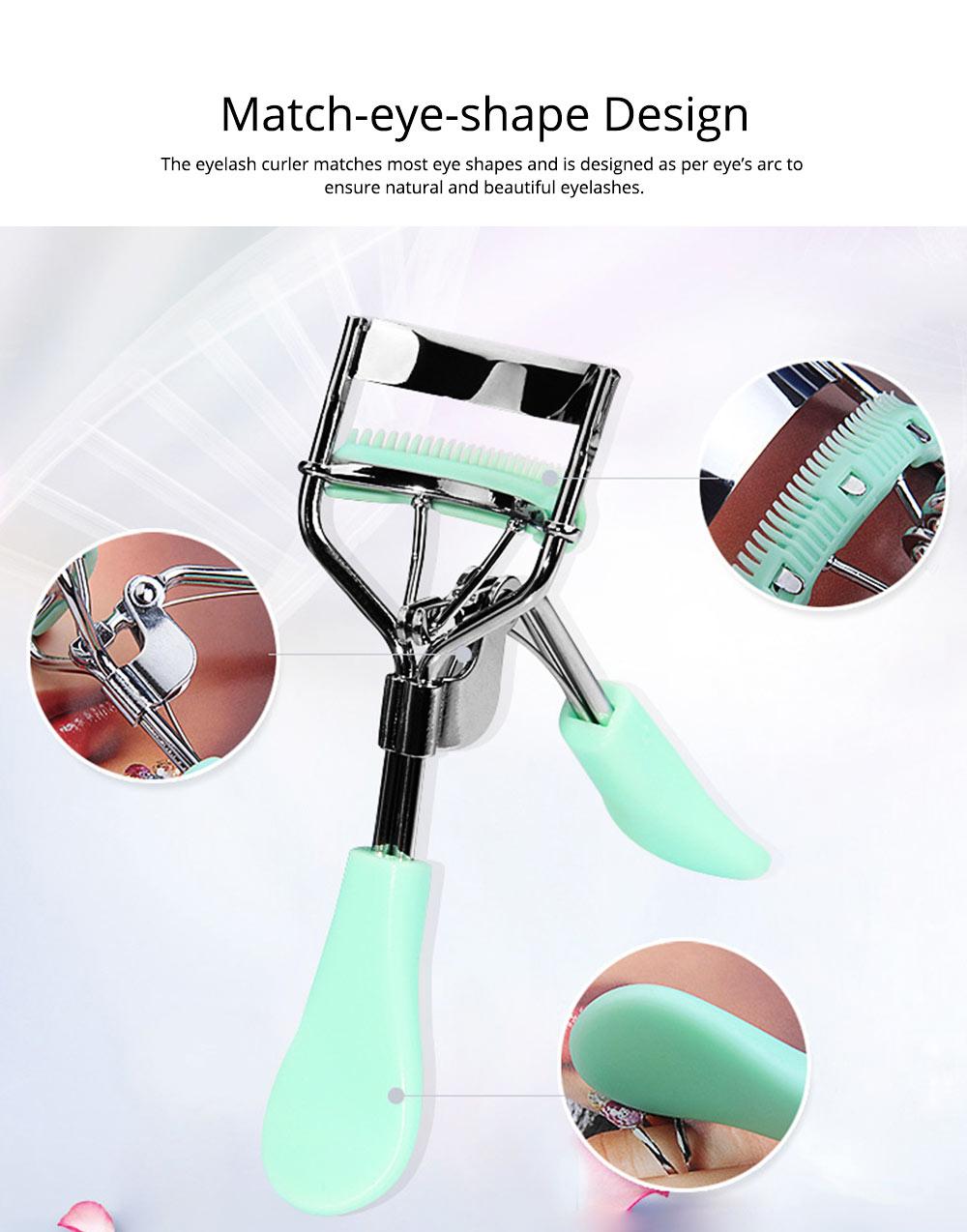 Eyelash Curler with Comb for Beauty Makeup Stainless Steel Eyelash Curler Eyebrow Trimmer Eyebrow Tweezer Beauty Makeup Tools 3
