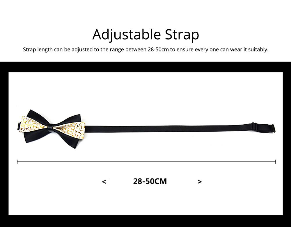Bow Tie of PU Leather for Wedding Business Suit Bow Tie Fashionable British Style Elviro Tie Bridegroom Groomsman Used Bow Tie 5