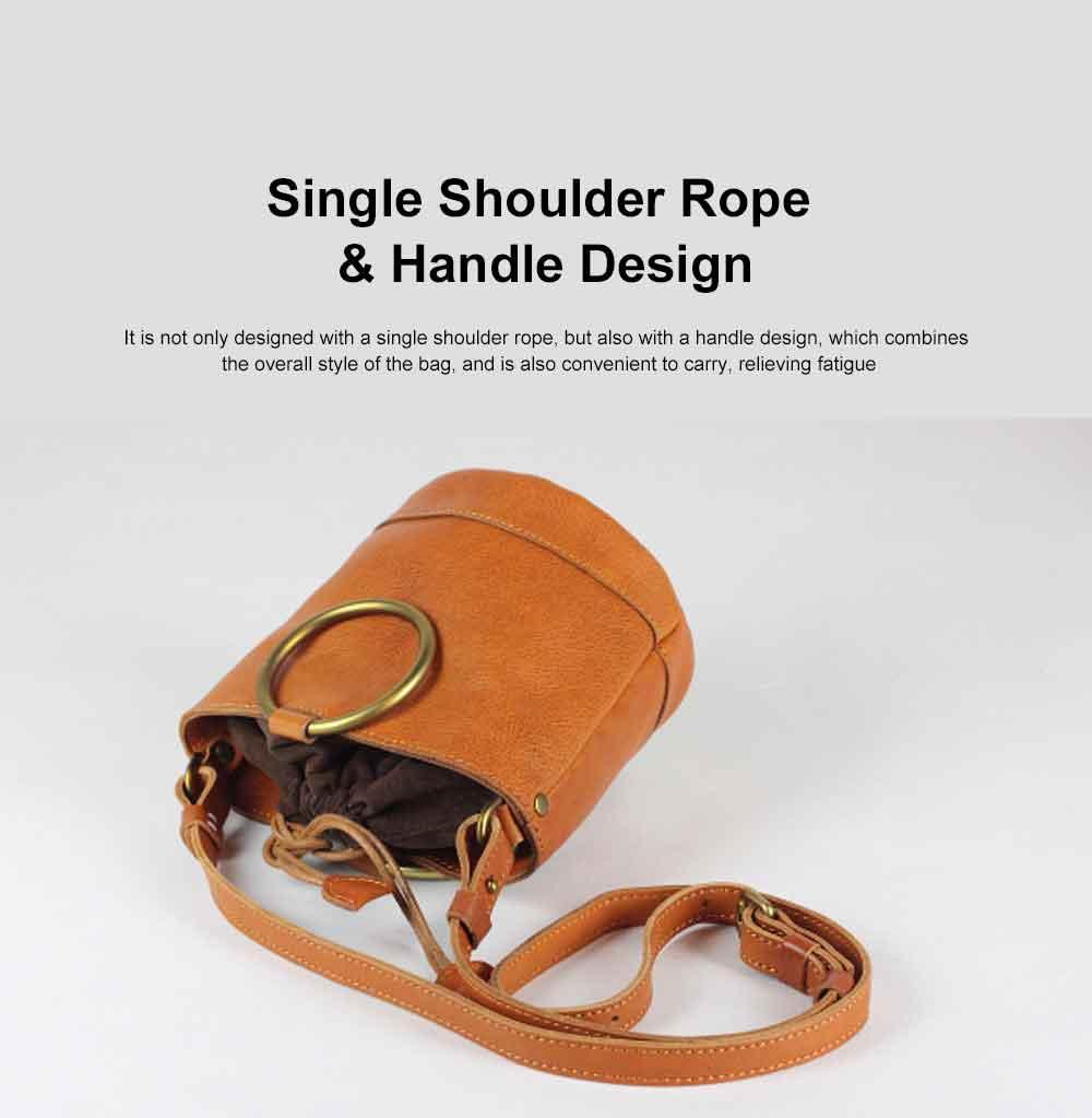 Cowhide Leather Ladies Shoulder Bag, Single-shoulder Slant Straddle Bag for Shopping, Dating 5