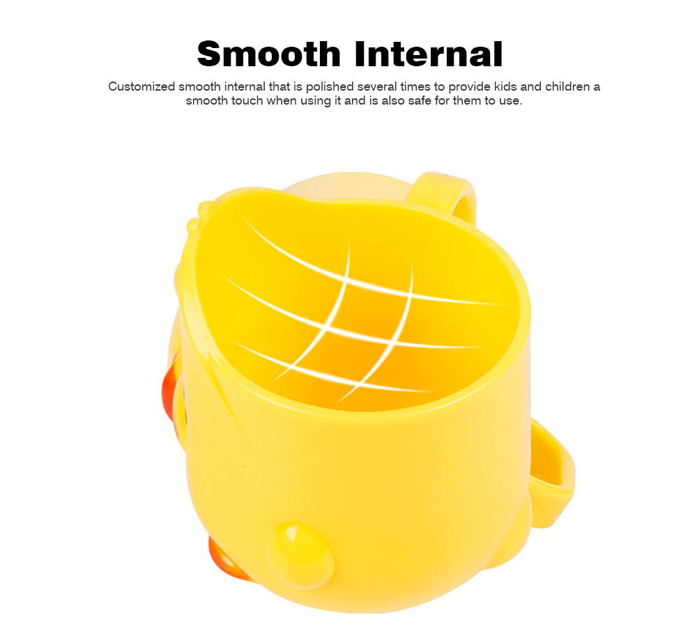 Cartoon Toothbrush Tumbler for Kids Children, Green PP Toothbrush Cup with Handle, Duck Designed Dental Care Mug 5