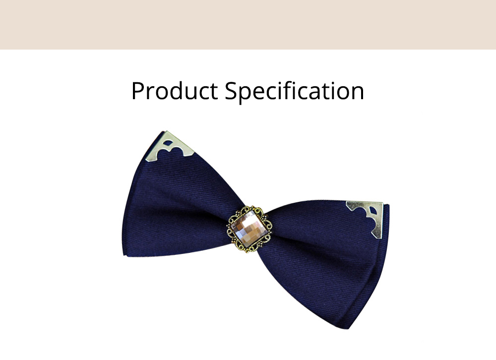 Korean Style Bow Tie for Male Fashionable Man-used Wrap Angle Bow Tie for Bridegroom Groomsman Classic Gem Bow Tie 6