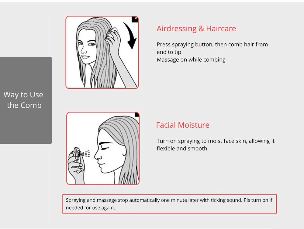 Mini Spraying Massage Comb for Hairdressing Nanometer Spraying Hairdressing Comb Multipurpose Moisture Vibration Massage Comb 4