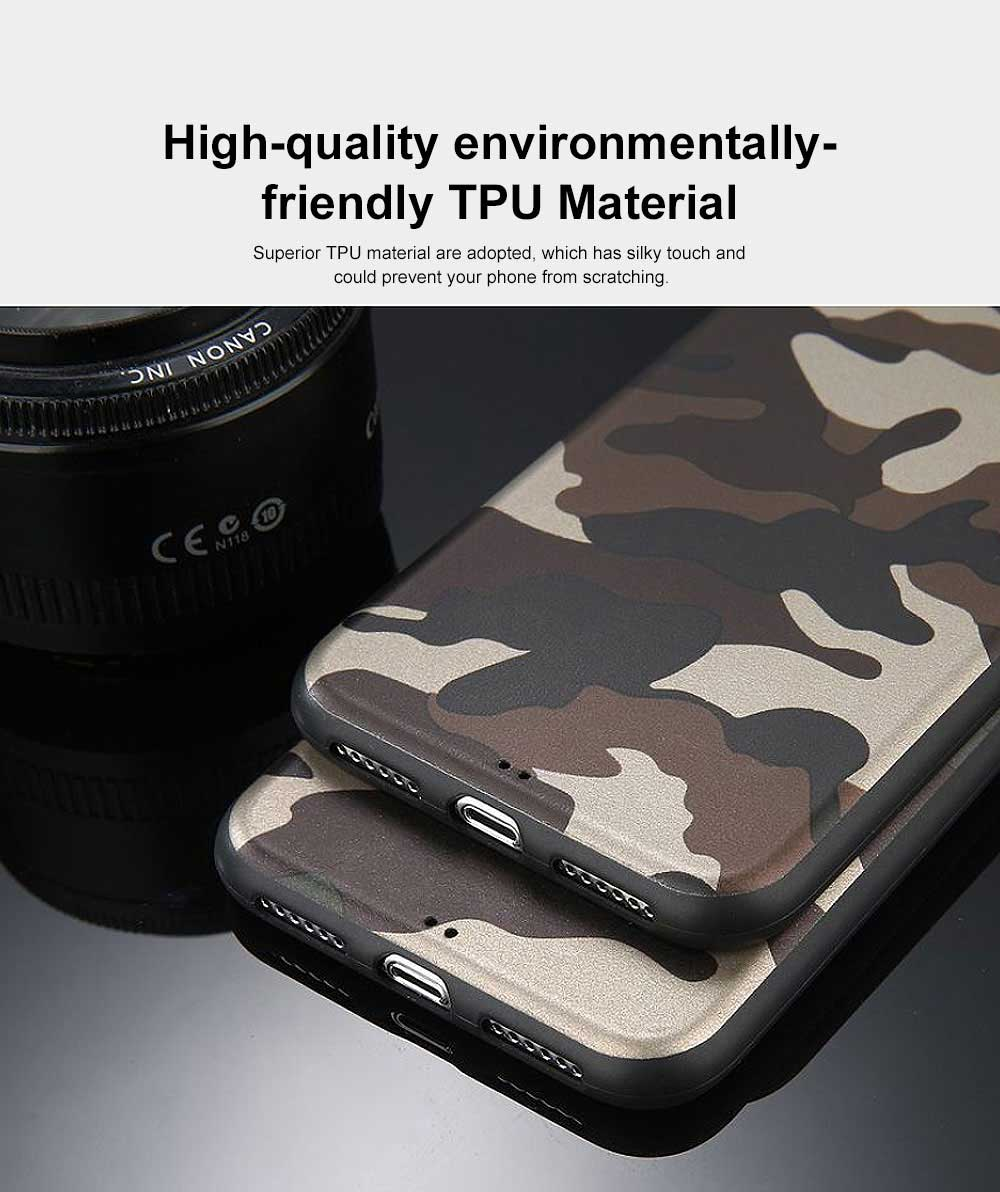 Camouflage Phone Case, Leopard Print Case Cover, Smooth TPU Phone Case, Luxury Ultra Thin Case Cover for iPhone 2