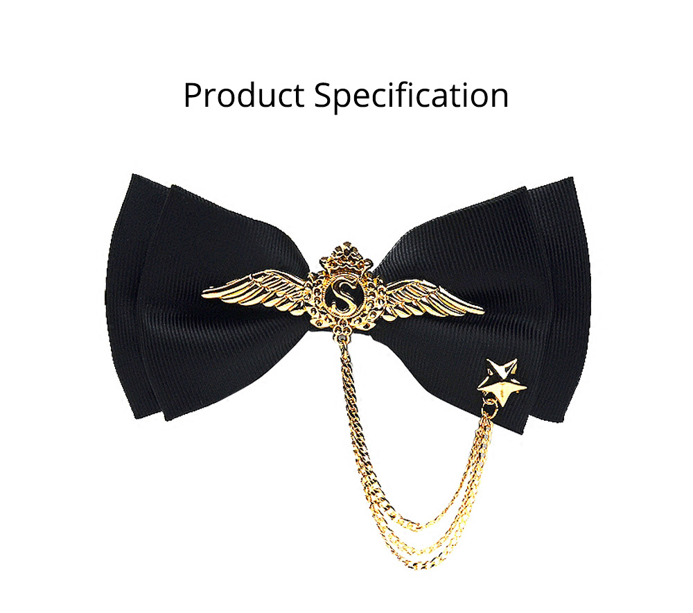 Bow Tie of Double Layer for Wedding S Metal Decorative Accessory Bow Tie Fashionable British Style Tie Bridegroom Groomsman Used 9
